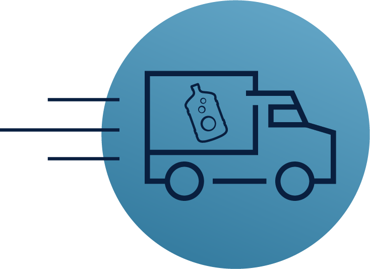 delivery truck moving icon