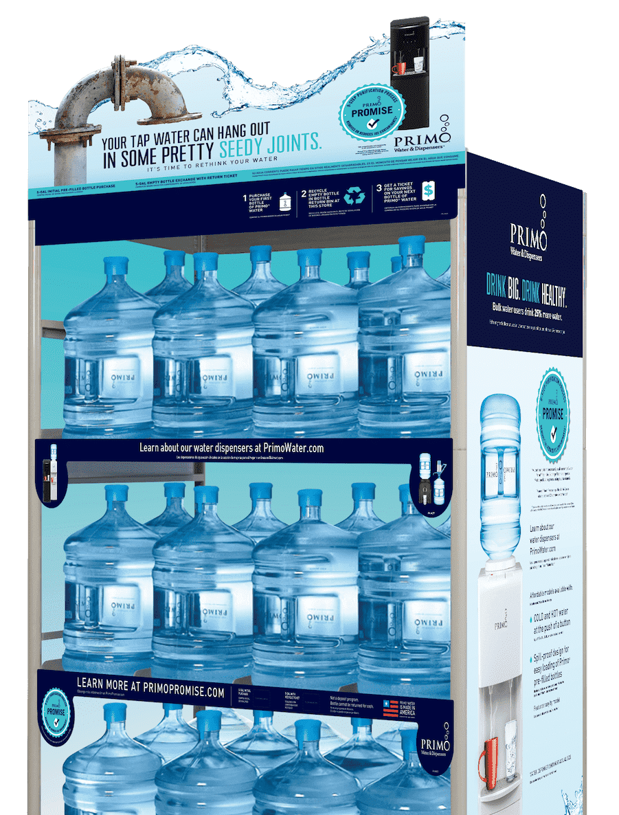 Exchange rack of Primo water