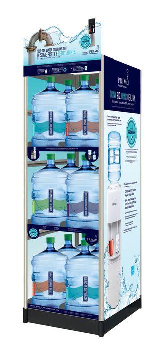 water exchange rack 18 bottle display