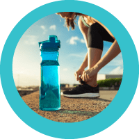 clean water for health- woman exercising
