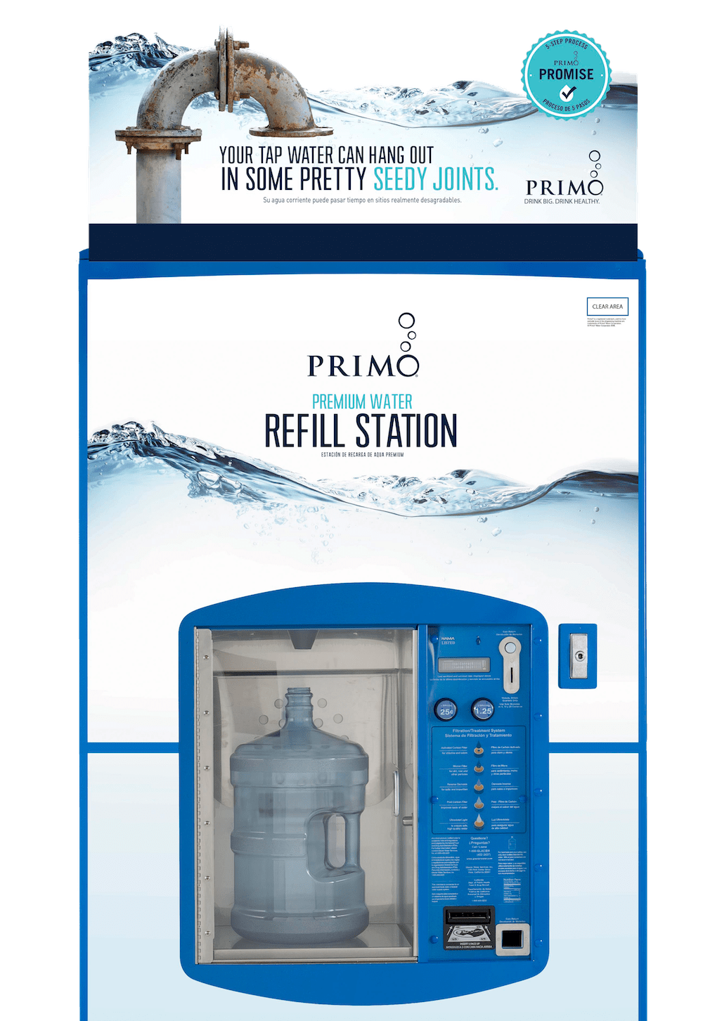 Primo Premium water refill station