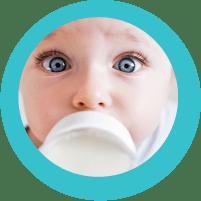baby drinking safe formula
