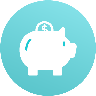 Savings icon piggy bank