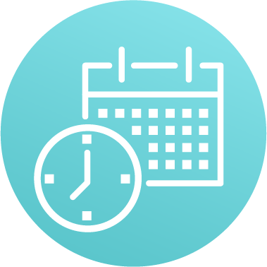 Schedule calendar and clock icon