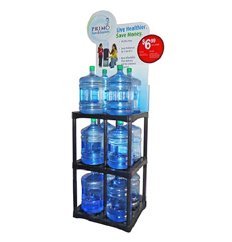 Primo water 12 count display rack