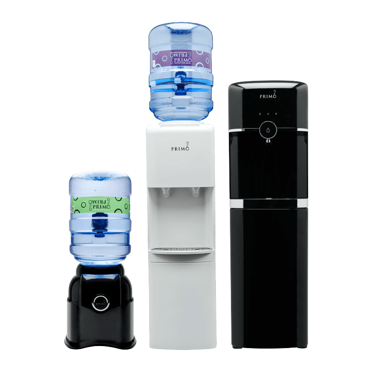 Countertop, top loading and bottom loading water dispensers