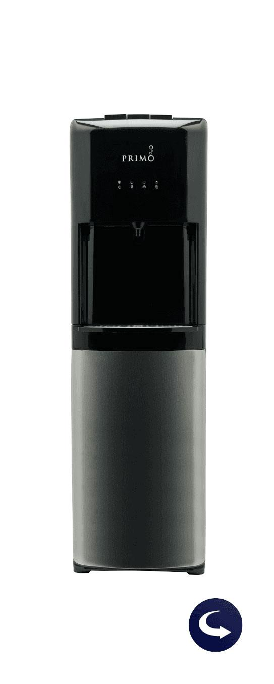 deluxe bottom loading water dispenser with flip icon